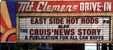 Mt Clemens Drive-In Theatre - MARQUEE - PHOTO FROM RG