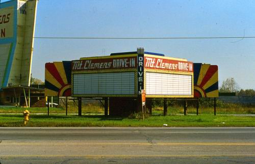 Mt Clemens Drive-In Theatre - OLD PICTURE