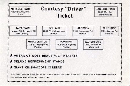 Miracle Mile Drive-In Theatre - COURTESY TICKET