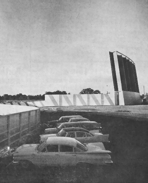 Miracle Mile Drive-In Theatre - SCREEN AND FENCE