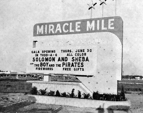 Miracle Mile Drive-In Theatre - MARQUEE IN DAYTIME