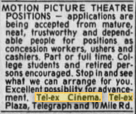 Tel-Ex Cinemas - HELP NEEDED AUG 24 1990