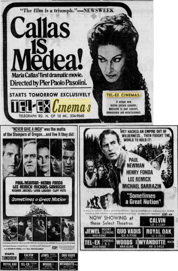 Tel-Ex Cinemas - OLD ADS